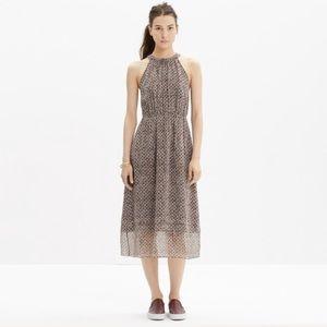 MADEWELL Silk Tiered Print Dress